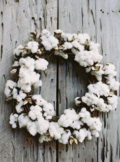 Cotton Ball Wreath | photography by http://virgilbunao.com/  (Wedding photography)