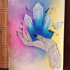 #draw #hand #colorful by me