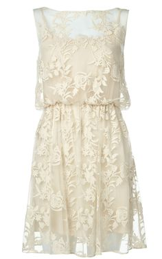 Lace layover dress