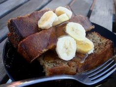 Paleo Banana Bread French Toast-- not bad. VERY filling. I used regular flour because we had it on hand.