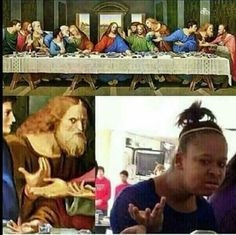 Last Supper confused member #lastsupper #memes #christian