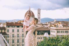 Barefoot Blonde Amber Fillerup in Florence, Italy wearing Simone Rocha