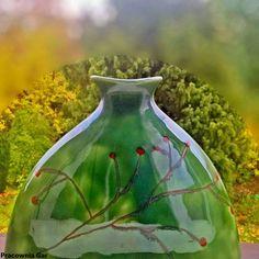 ceramic vase , stoneware , autumn,green, Christmas, handmade, ceramic art , Green Christmas, Handmade Ceramic, Ceramic Vase, Stoneware, Glass Vase, Autumn, Ceramics, Crafts, Home Decor