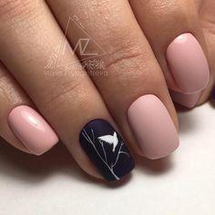 Simple Bird Nail Design