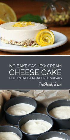 Delicious no-bake cheesecake.  #glutenfree #dairyfree #nobake #vegan #cheesecake