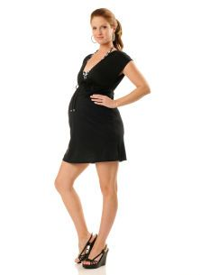 A Pea in the Pod Splendid Hooded Maternity Swim Cover-up on ...