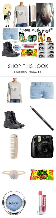 """""""Baby, stay away from my friends"""" by madelynnlove ❤ liked on Polyvore featuring Saks Fifth Avenue, Paul & Joe, Converse, Givenchy, HAY, Fujifilm and Maybelline"""
