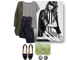 """stripes"" by letterelle ❤ liked on Polyvore"