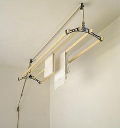 Need one of these - Sheila Maid Ceiling Airer at Remodelista