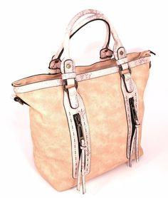 HAND BAG 2502 ROSA Borsa Mano Shopping Donna Primavera Estate 2017 Pitone Jeans