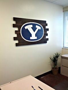 BYU Wood Wall Decor- A tutorial on how to make your own wood decor.