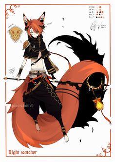 One of the spirit tahu part of the great kitsune. - akashi no eibara + Age : 1.599