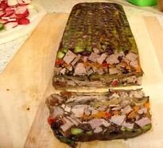 Roast lamb and chargrilled vegetable terrine