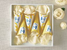 Confetti Cone Template DIY For Your Ceremony Exit Toss! | Photo by: Devon Jarvis | TheKnot.com