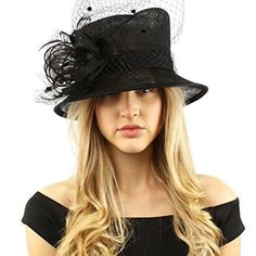 e001258df54 Elegant Victorian Netted Overlay Simamay Millinery Bucket Cloche Dress Hat  Fabrication  100% Sinamay Size  One size for teens and ladies (Head  measurement  ...