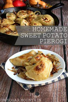 Homemade Sweet Potato Pierogi recipe - On Sugar Mountain