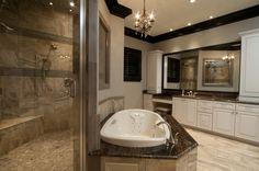 Master Shower/Bathroom; Custom Home built by Regency Homebuilders
