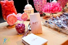 Pretty Pink Candy Table. *