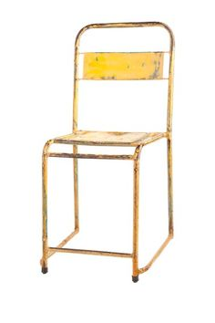 Cafe Chair - Yellow by Vintage Modern Decor on @HauteLook