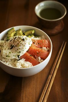 Salmon, Avo & Egg Donburi | Set the Table