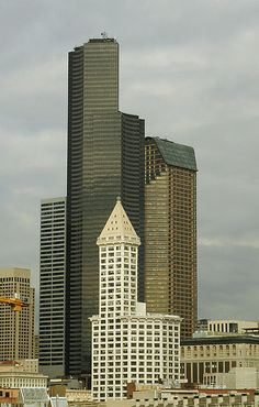 Smith Tower and Columbia Center, Seattle, WA - the first tallest building on west coast with the tallest on the west cost