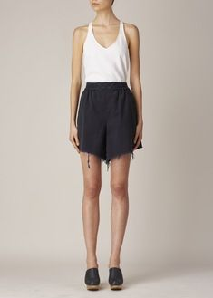 Rachel Comey Washed Black Rogue Shorts