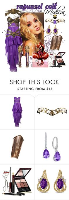 """""""Rapunzel Colt as Medusa - Heroes!, Texuguetes 108 d.V."""" by txg-oficial ❤ liked on Polyvore featuring Forever Unique, Kevyn Aucoin and BillyTheTree"""