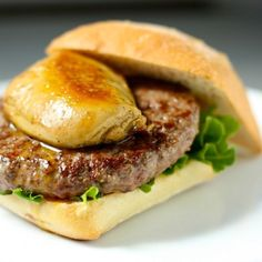 D'Artagnan Foie Gras Burger from contest winner, Daisy's World! @dartagnan_inc @daisyt13