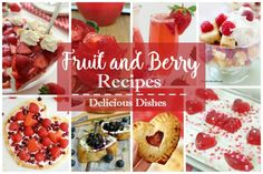 Party:  Fruit and Berry Recipes Delicious Dishes