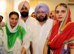 From (L-R) Royal Family from Patiala Preneet Kaur with her son Raninder Singh,AMRINDER SINGH (husband) and daughter JAI INDER KAUR.