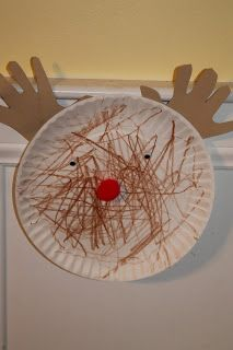 Paper Plate Rudolph Craft.  15 Holiday Crafts for Kids : The Chirping Moms