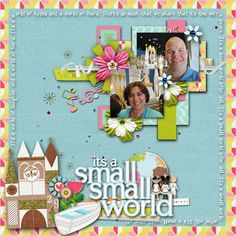 It's a Small World  mousescrappers.com