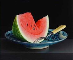 'Still life with Watermelon on a Persian dish