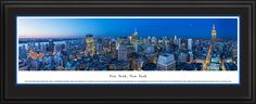 Midtown Manhattan City Skyline Panoramic Pictures & Posters