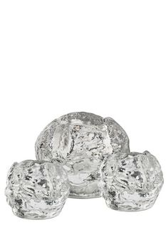 Kosta Boda Crystal Glass Snowballs for votive candles {Set of Holiday Boutique, Nordic Lights, Snowflake Decorations, Snowball Fight, Kosta Boda, Winter Light, Holiday Fashion, Holiday Style, Sparkling Ice