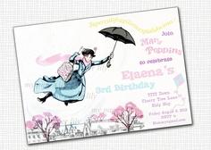 Mary Poppins - Invitation (Printable). $10.00, via Etsy.