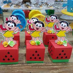 E hoje foi dia de Turma da Mônica PER Watermelon Decor, Malu, Minnie, Alice, Party Themes, Barbie, Photo And Video, Birthday, Gifts