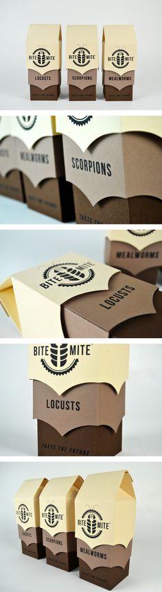 Bite Mite by Yee Poon - creative packaging Cool Packaging, Coffee Packaging, Print Packaging, Cardboard Packaging, Art Graphique, Packaging Design Inspiration, Love Design, Branding Design, Creative