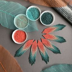 With beaded jewelry you can make your own customizable jewelry that is completely unique and fitting to your exact style. Making beaded jewelry is not very difficult and can, in fact, be a lot of fun. Beaded Earrings Patterns, Diy Earrings, Beading Patterns, Beaded Necklaces, Coral Earrings, Fringe Earrings, Hoop Earrings, Beading Ideas, Beaded Earrings Native