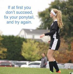 Improve Your Soccer Game With These Helpful Tips! As popular as the sport is, it's not surprising that so many people want to know more about the game of soccer. It is important to understand the game befo Soccer Memes, Football Quotes, Soccer Tips, Sports Memes, Funny Soccer Quotes, Motivational Soccer Quotes, Soccer Goals, Girl Football, Soccer Skills