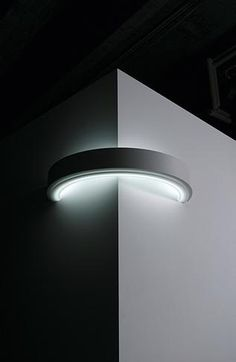 Unusual lamp turns the corner. Lamp by Circolo.