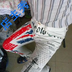 >> Click to Buy << Mens British Flag Jeans Pants Colored Drawing Tower Printed Fashion SKinny White Jeans Casual Stretch Jeans Trousers MB573 Z10 #Affiliate