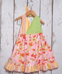 Another great find on #zulily! Pink Island Getaway Halter Dress - Toddler & Girls by Beary Basics #zulilyfinds