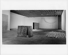 """View of, """"Anti-Illusion: Procedures/Materials"""", Whitney Museum of American Art, New York, May 19-July 6, 1969."""