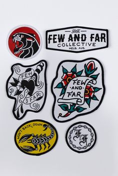 Embroidered Patch Pack (6)