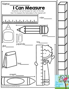 I Can Measure! Have students use the measuring stick to see how many cubes each object is. The Back to School NO PREP Packet for Kindergarten is packed with fun activities to keep students engaged in their learning!