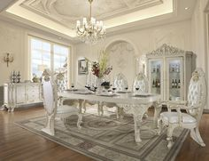 Formal Dining Tables, Room Decor, Elegant, Chair, Room Set, Luxury Home Furniture, Luxury Dining Room, Prince And Princess, Luxury Homes