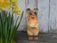 Kitsch Chalkware Bear Carnival Prize  Antique by happydayantiques, $25.00