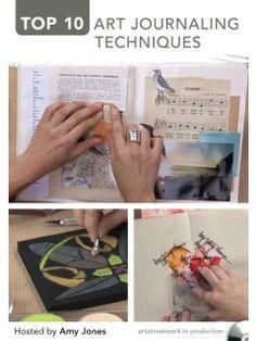 Top 10 Art Journaling Techniques DVD hosted by Amy Jones | InterweaveStore.com