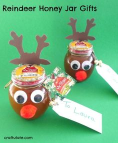 Reindeer Honey Jar Gifts - the perfect festive gift for gourmet home cooks! @donvictorhoney  #HoneyForHolidays #DonVictorHoney #ad